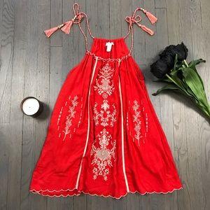 Forever 21 Embroidered Tassel Beaded Dress Tunic